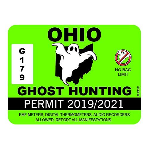 RDW Ohio Ghost Hunting Permit Sticker Premium Decal Die Cut Paranormal Hunter OH