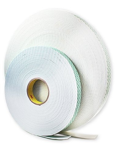 3M 4016 Acrylic Double Coated Urethane Foam Adhesive Tape, 62 mil Thick, 36 yds Length x 1'' Width, Off-White by 3M