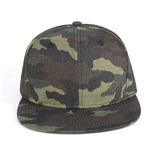 ChezAbbey Solid Flat Brim Hip Hop Adjustable Hat Stylish Snapback Baseball Cap by ChezAbbey (Image #1)
