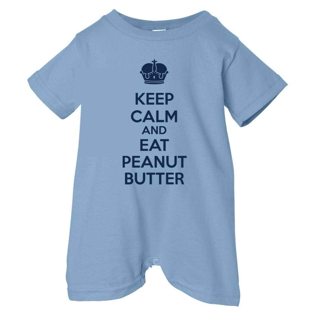 Tasty Threads Unisex Baby Keep Calm And Eat Peanut Butter T-Shirt Romper