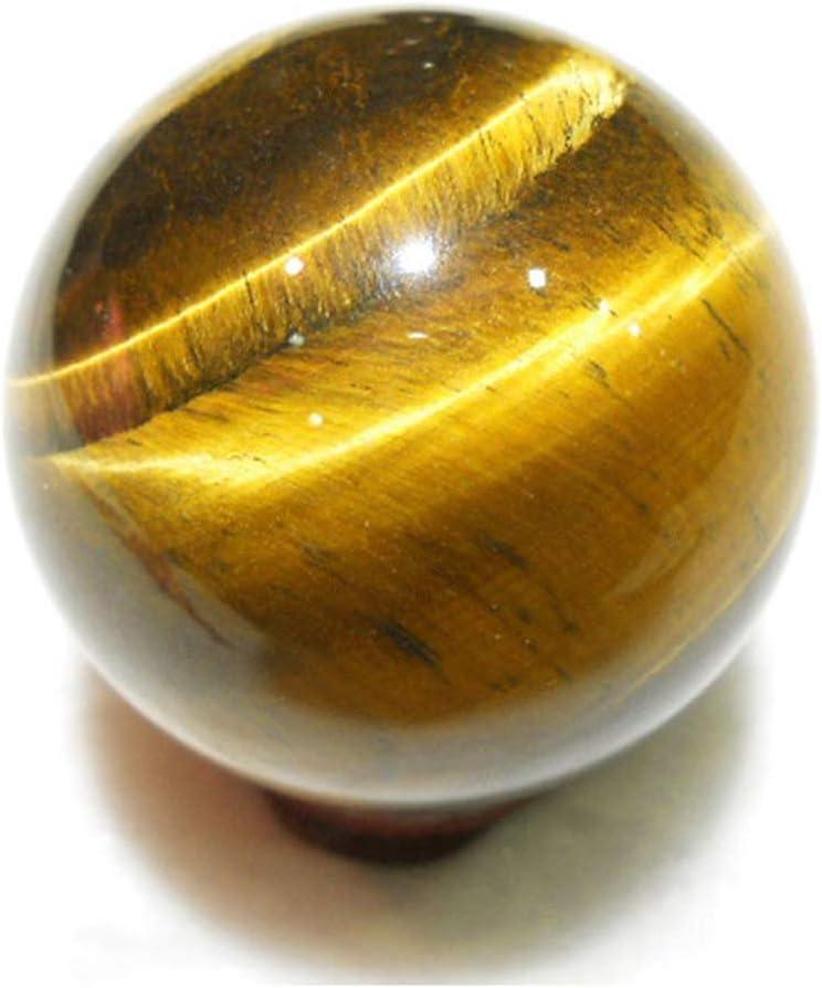 Curación Bola, Amarillo Redondo Esfera Colgantes Juguete Cristal Hecho a Mano Regalo Raros Ojo Tigre Mini Natural 2cm - En la Fotografía Show, 2cm
