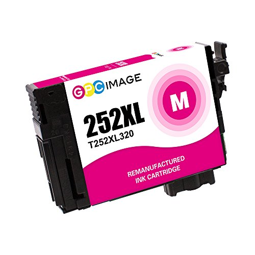 GPC Image Remanufactured Ink Cartridge Replacement for Epson T252XL 252XL  252XL120 to use with Workforce Wf-7720 Wf-7710 Wf-7210 Wf-3620 Wf-7610