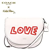 Coach X Limited Edition Keith Haring Love Leather Shoulder Bag In White