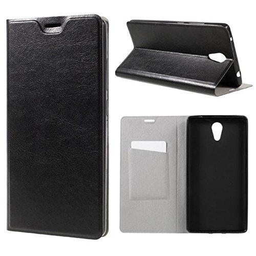 Cuero de la PU caja del teléfono móvil para Lenovo Phab2 black