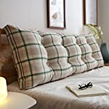 Reading pillow,cotton Bed Sofa Cushion Positioning support pillow Home office lumbar pad with removable cover-M 8x20x59inch(20x50x150cm)