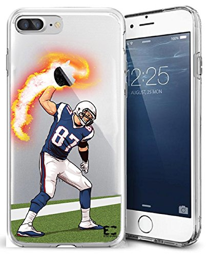 Epic Cases iPhone 7/8 Plus Case for Apple iPhone, Ultra Slim Transparent Dominate The Football Gridiron Series - Gronk Spike, Clear (iPhone 7 Plus) (iPhone 8 Plus)