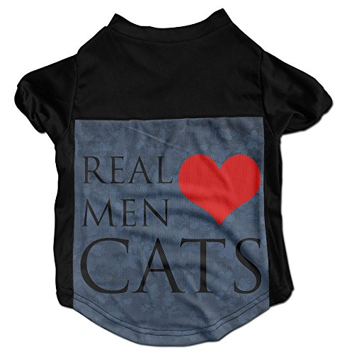 [Real Men Like Cats Printing Pet Clothes Warm Coat Puppy Short Sleeved T-Shirt] (Cobra Firefly Costumes)