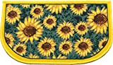 Kashi Home D-Shape Mat with Latex Back Sunflower Series Kitchen Rug, 18'' by 30''