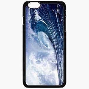 Unique Design Fashion Protective Back Cover For iPhone 6 Plus Case Slim (5.5 inch) Blue Ocean Waves 13907 Nature Black