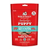 Stella & Chewy's Perfectly Puppy Freeze-Dried Raw Beef Salmon Dinner Patties Grain-Free Dog Food, 5.5 oz bag