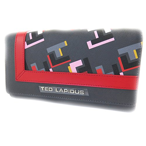 Wallet + checkbook holder 'Ted Lapidus' gray multicolored. by Ted Lapidus