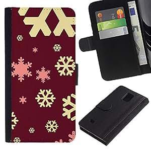 KingStore / Leather Etui en cuir / Samsung Galaxy Note 4 IV / Gelb