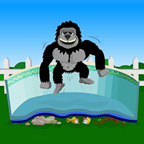Gorilla Pad 18'x33' Oval by Splash Net Express