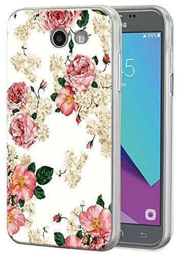 For Samsung Galaxy J3 Emerge / J3 2017 / J3 Prime / J3 Mission / J3 Eclipse / J3 Luna Pro / Sol 2 / Amp Prime 2 / Express Prime 2 Case, Harryshell Slim Tpu Flexible Rubber Protective Case Cover (B-1)