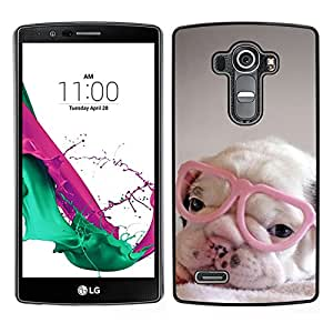 Stuss Case / Funda Carcasa protectora - Mignon Sweet Heart Glasses - LG G4