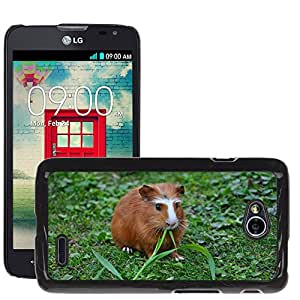 Super Stella Slim PC Hard Case Cover Skin Armor Shell Protection // M00146640 Guinea Pig Pet Nager // LG Optimus L70 MS323