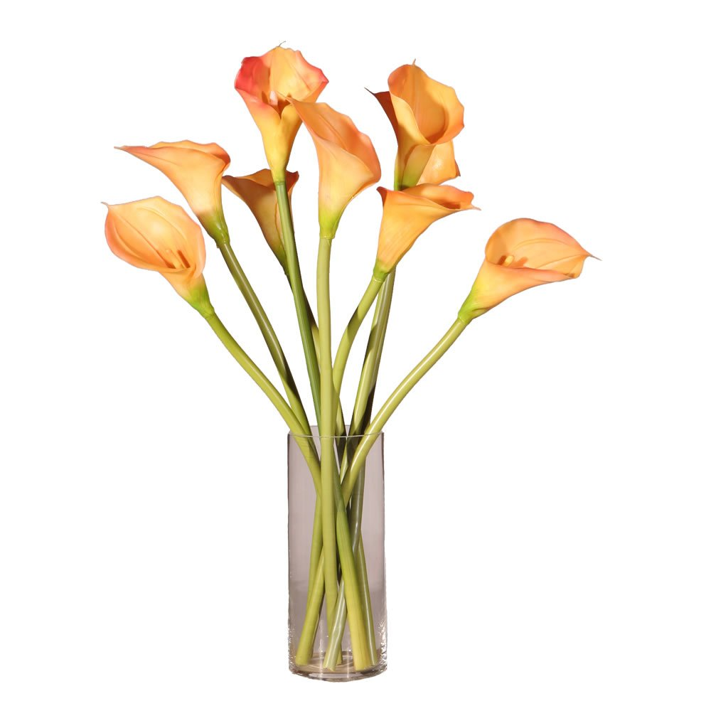 Vickerman F11085 Everyday Calla Floral, Peach, 24'' by Vickerman