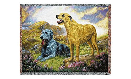 Pure Country 2010-T Irish Wolf Hound Pet Blanket, Various Blended Colorways, 53 by 70-Inch