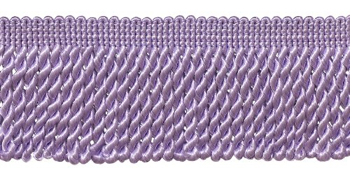 DÉCOPRO 10 Yard Value Pack|2.5 Inch Bullion Fringe Trim|Style# EF25 Color: Light Purple - D7|30 Ft / 9.5 Meters