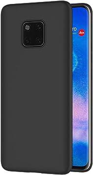 AICEK Funda Huawei Mate 20 Pro, Negro Silicona Fundas para ...