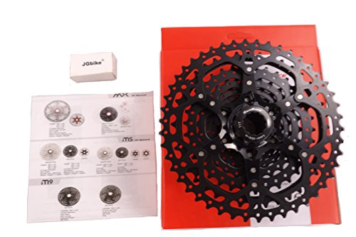 Sunrace 10-speed 11-46T cassette CSMS3 wide ratio MTB in Black with rear derailleur link by (30 Full Suspension Mountain Bike)