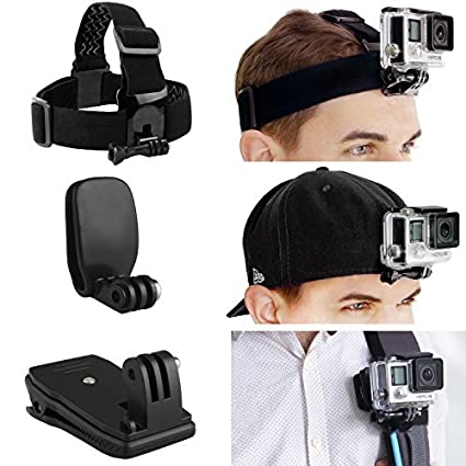 24acceaaf99 CamKix Head and Backpack Mount Bundle compatible with  Amazon.co.uk ...