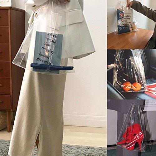 de Femme Main Plage d'embrayage Shopping Sac PVC Tout fourre en Transparente Sac à Pouch Sac JAGENIE RnWAaf