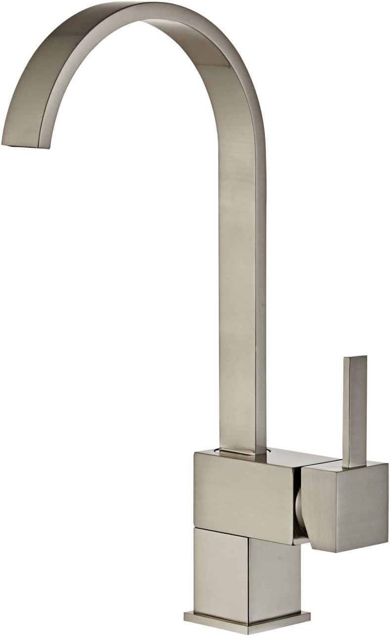Yodel Swivel Head Modern Kitchen/Wet Bar Sink Faucet, Brushed Nickel - -