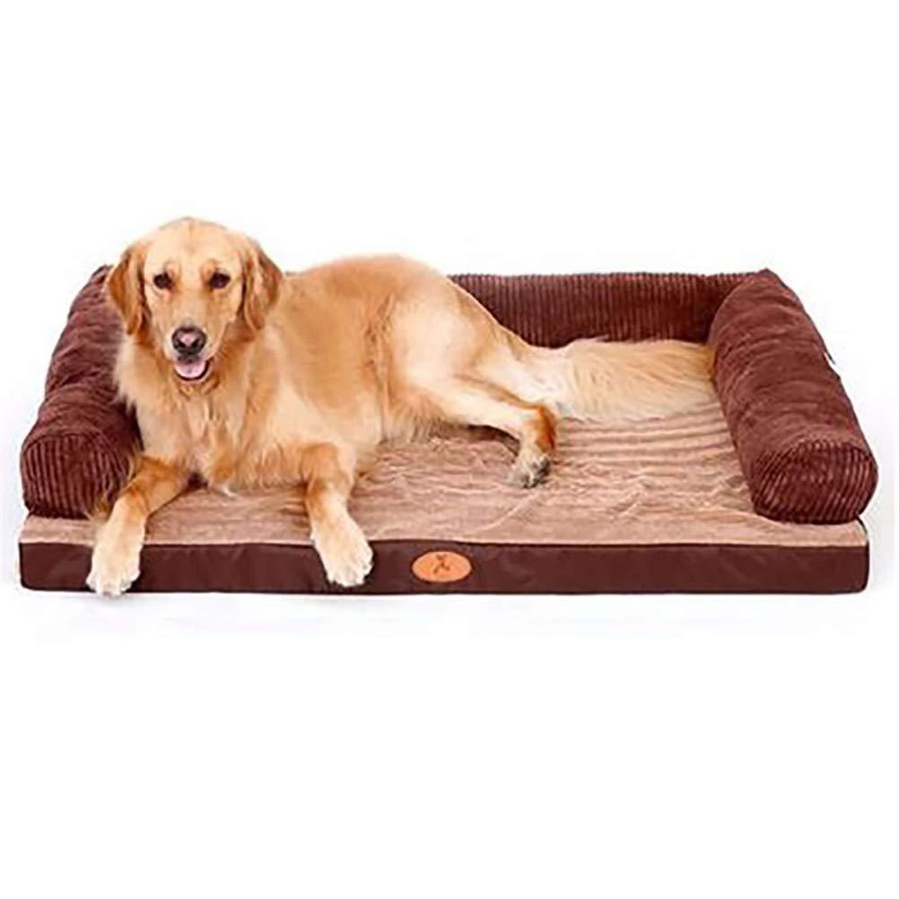 3 backrest L 3 backrest L Soft and Comfortable Removable Brown pet Bed Dog Bed Sleeping Bag Pet cat Dog cave120  90cm   100  80cm   80  60cm   60  45cm (color   3 backrest, Size   L)
