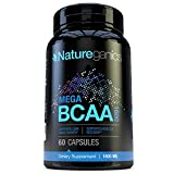 Natureganics MEGA BCAA Amino Acids Dietary Supplement, 1600 mg, 60 Capsules For Sale
