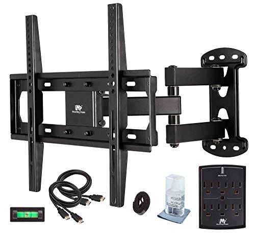 mounting-dream-md2377-kt-tv-wall-mount-bracket-kit-with-surge-protector-2-hdmi-cables-magnetic-bubbl