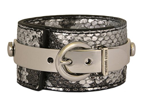 Harley Davidson Womens Snakeskin Closure Leather