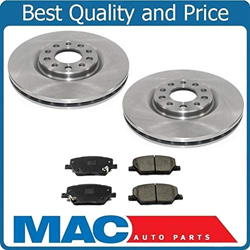 Mac Auto Parts 157680 New Front Ceramic Pads & Premium Rotors for 15-2018 Jeep Renegade 305MM 12 1/64 (New Renegade Jeep)