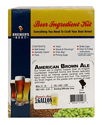 Home Brew Ohio American Brown Ale Brewer's Best 1 gallon Home Brew Beer Ingredient Kit