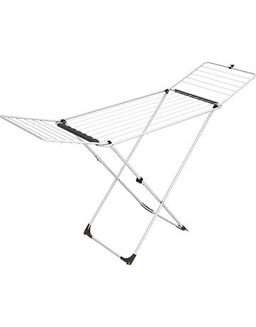 Vileda Universal Tendedero X-legs de acero con alas plegables, 18 metros de espacio