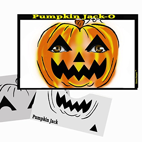 Halloween Face Painting Stencil - StencilEyes Pumpkin (Halloween Stencils For Painting Pumpkins)