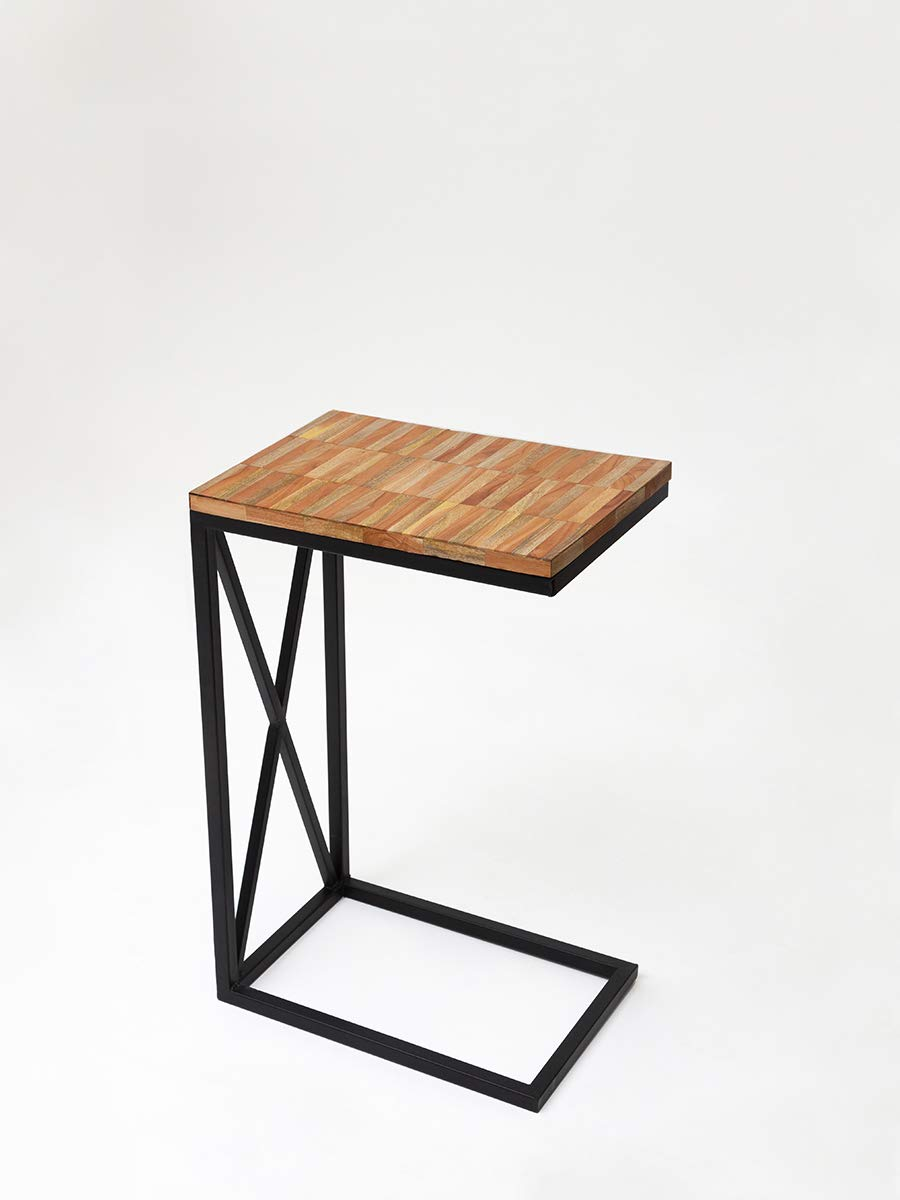 Casa Decor Brick Assembly Wooden C Table Bedside Portable Table