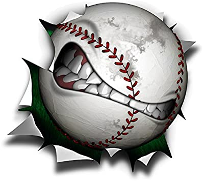 "24"" Baseball mean ball **HOT** logo Wall Graphic Sticker Color Decal Home Game Kids Boys Room Garage Den Man Cave Decor"
