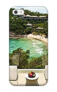 Cheap Iphone 5/5s Case Cover - Slim Fit Tpu Protector Shock Absorbent Case (thailand Holiday Koh Samui Luxury Hotel)