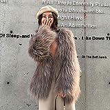 V-HOUE Dog Coats Hook Natural Raccoon Fur Knitted Coat Women's Long Sleeve Winter Warm Genuine Fur Coats Long Jackets