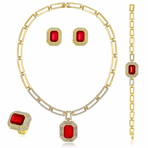 Gold Square Jewelry Set - 7
