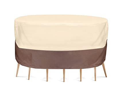 Pyle PVCTBLCH46 Armor Shield Patio Table and Chair Set Cover, 70 by 23-Inch, Fits Round Table and 6 Standard Chairs