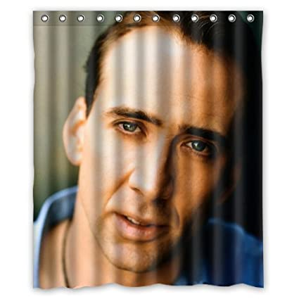Nicolas Cage Custom Waterproof Shower Curtain 60x72 Inch Bath Curtains Amazoncouk Kitchen Home