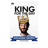 NPW W13634 King For The Day Inflatable Crown, One Size Fits Most, Gold