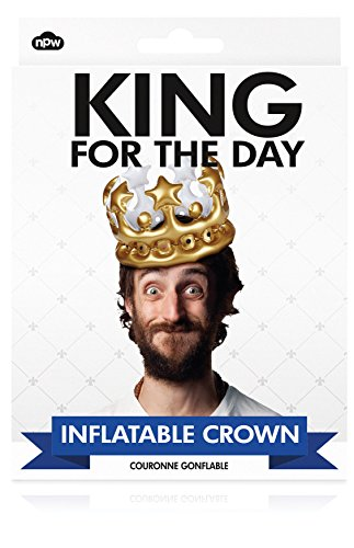 NPW W13634 King For The Day Inflatable Crown, One Size Fits Most Most, Gold]()