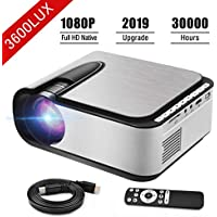 Seeback Full HD 1080p 3600-Lumens Home Theater Projector for Indoor/Outdoor