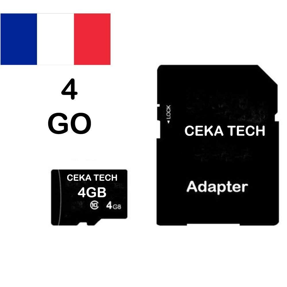 Tarjeta de Memoria Compatible con Xiaomi Redmi 7A - CEKA TECH® Micro-SD 4GB Clase 10 con Adaptador SD