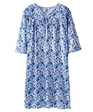 Womens Adaptive Hospital Gown Open Back Regular & Plus Sizes - Blue Watercolor XL