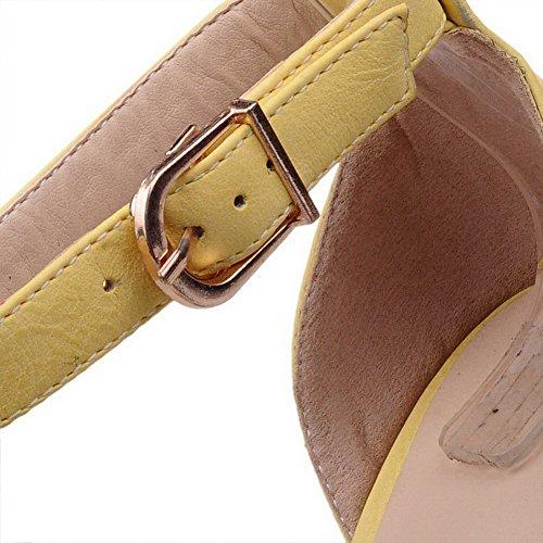 asymétrique PU en à talons pour Boucle sandales hauts MD femmes AgooLar® avec 6TqwEFIwx