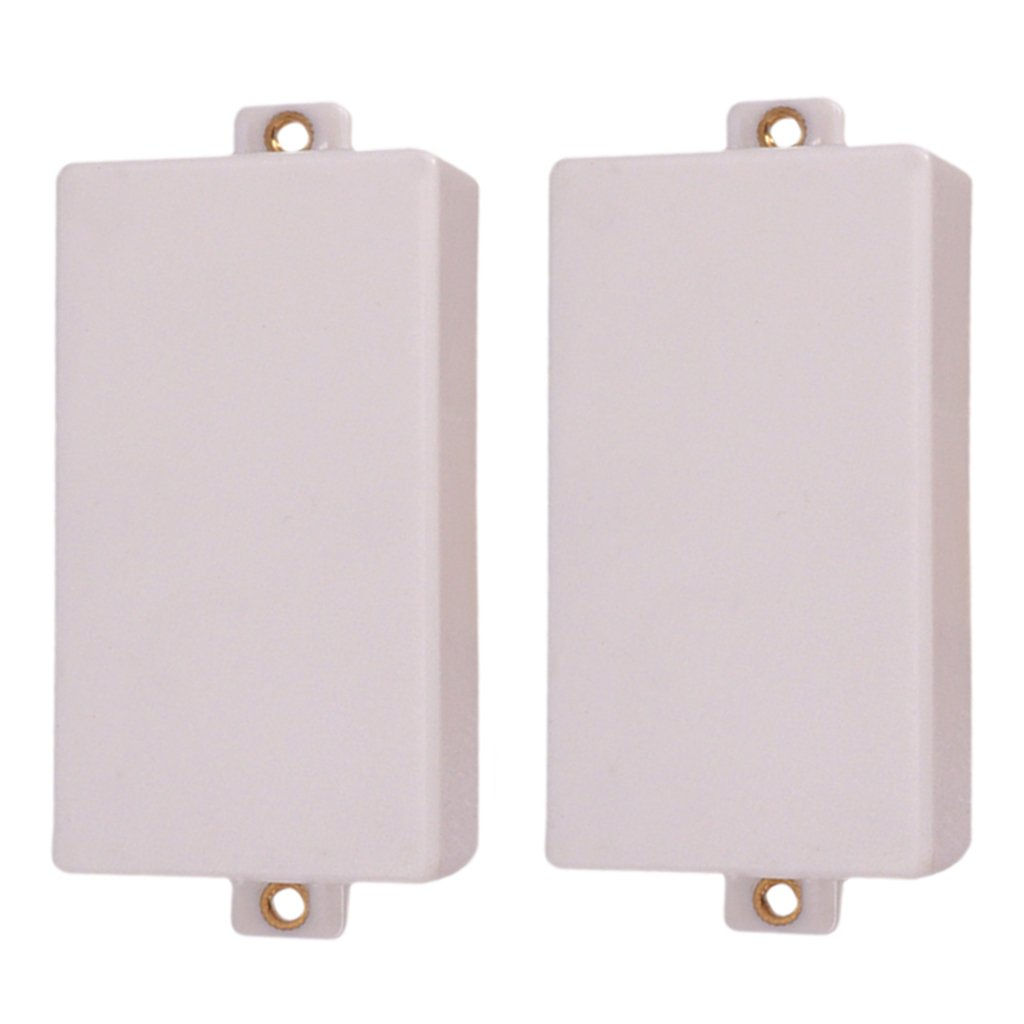 MonkeyJack 2Pcs White Seal Closed Type Pickup Covers Double Coils for Instrument Guitar